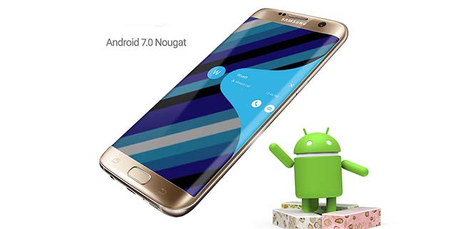 Samsung Galaxy S7 Edge Android 7.0 Nougat Beta