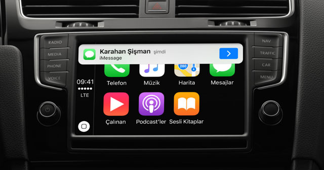 Apple CarPlay Mail Mesaj Gönderme ve Arama