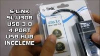 S-Link SL-U308 USB 3.0 HUB İnceleme ve Test