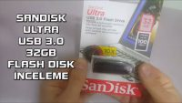 Sandisk Ultra 32GB USB 3.0 Flash Disk Video İnceleme ve Hız Testi